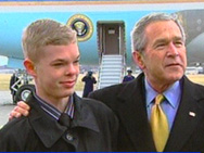 Jason McElwain with President Bush